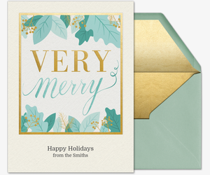 Very Merry Border Invitation