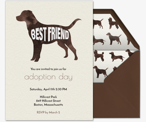 Pet Silhouette Invitation