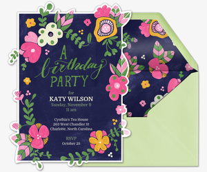 Birthday Blooms Invitation