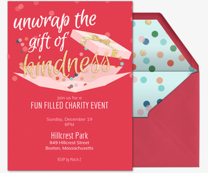 Kindness Gift General Invite Invitation