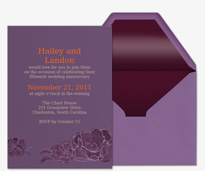 Peonies Invitation