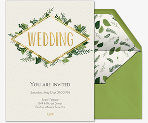 green wedding invitation - Wedding Invitations Online