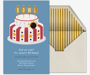 Birthday Cake Bowl Invitation