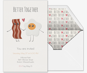 Bacon Egg Invite Invitation