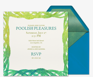 Poolish Pleasures Invitation