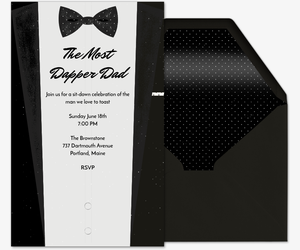 Dapper Dad Invitation