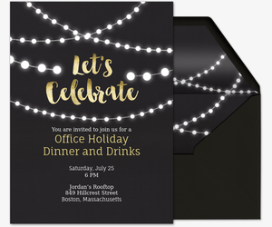 Office party invitation templates top string lights invite amazing string lights invite invitation with office party invitation templates stopboris Choice Image