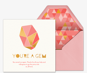 You're a Gem Invitation