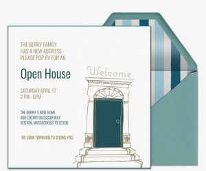 Charming Doorway Invitation