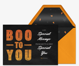 Boo Block Type Invitation
