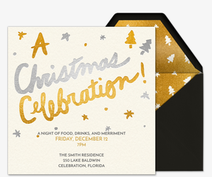A Christmas Celebration Invitation
