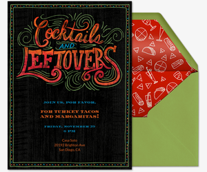 Cocktails and Leftovers Invitation