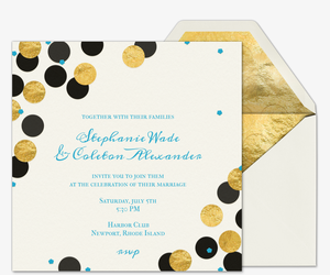 Confetti Love Wedding Invitation