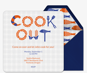 Cook Out Invitation