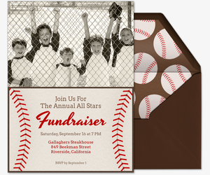 Baseball Card Invitation