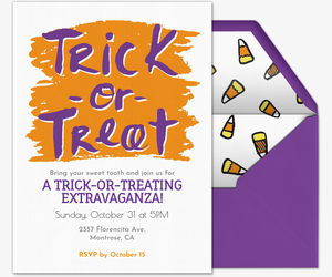 Trick or Treating Invitation