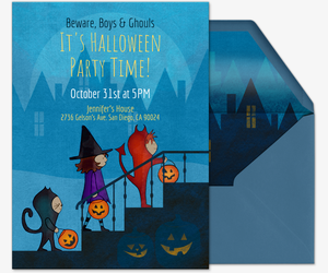 Witches and Ghouls Invitation