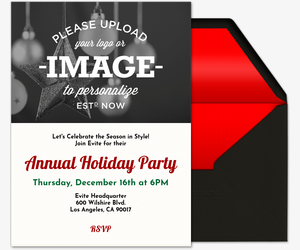 Holiday Upload Image Invitation