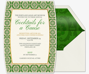 Garden Medallion Invitation