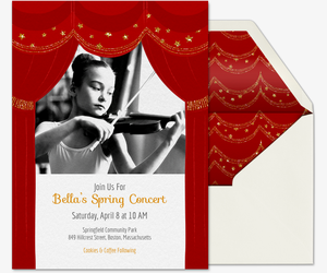 Theatrical Curtains Invitation