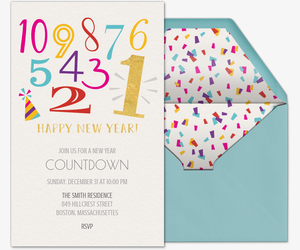 Countdown to the New Year Invitation