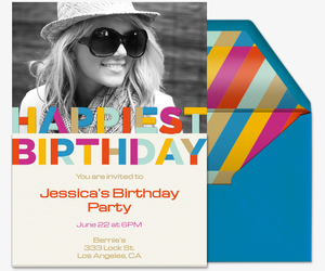 Happiest Birthday Party Invitation