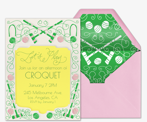 Croquet Invite Invitation