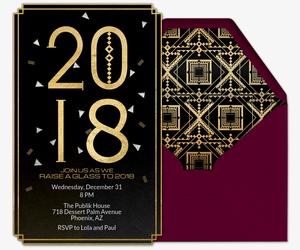 new year party invites