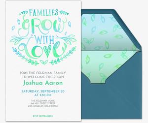 Family gathering online invitations evite new family member invitation stopboris Choice Image