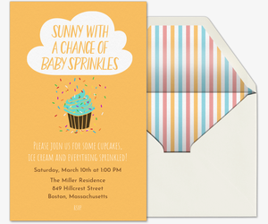 Chance of Sprinkles Invitation