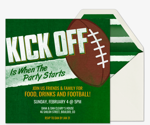 Super Kick Off Invitation