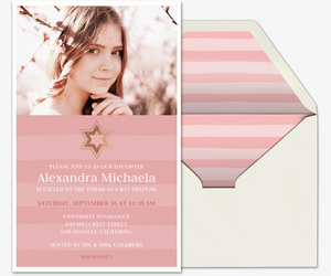 Mitzvah Star of David Invitation
