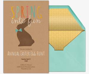 Spring into Fun Invitation