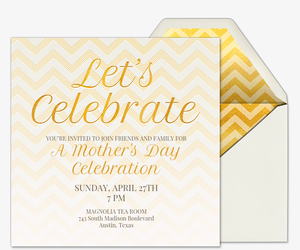 Golden Chevron Invitation