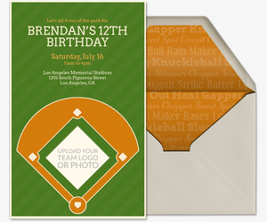 Baseball Diamond Invitation