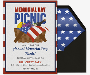 Memorial Day Picnic Invitation