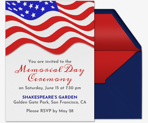 Memorial Day Flag Invitation