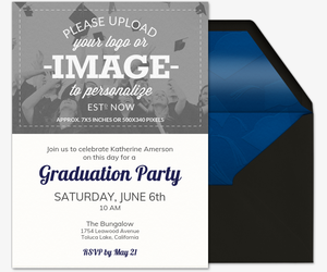 Upload Your Own Grad Invitation