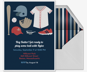 Baseball Essentials Invitation
