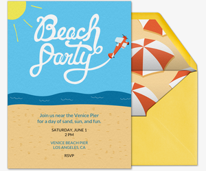 Beach Invitation Free Online Party