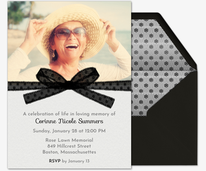 Black Ribbon Invitation