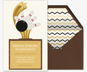 Bowling Trophy Invitation