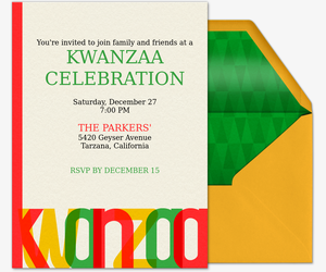 A Bright Kwanzaa Invitation