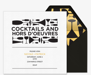 Cocktails and Hors d'oeuvres Invitation