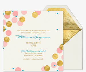 Free online birthday invitations for teens evite confetti and cupcakes invitation filmwisefo