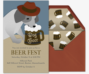 Dog Beer Invitation