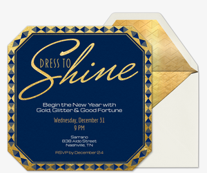 Dress to Shine Invitation