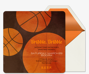 Free College Basketball online invitations Evite