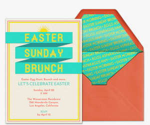 Easter Sunday Brunch Invitation