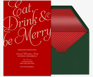 eat drink be merry invitation - Free Christmas Invitation Templates
